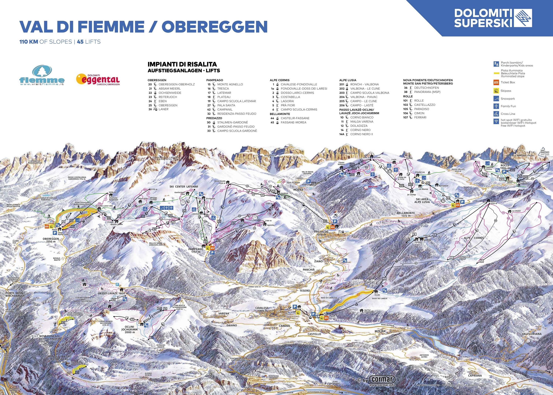 Latemar – Obereggen / Pampeago / Predazzo
