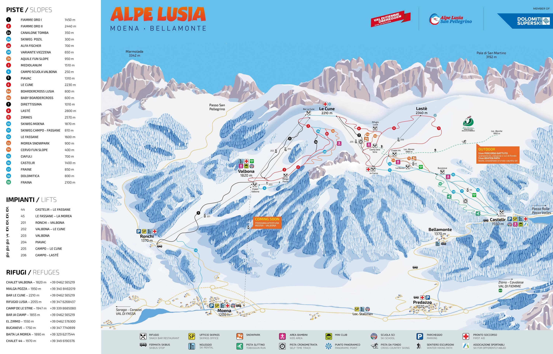 Alpe Lusia – Moena / Bellamonte