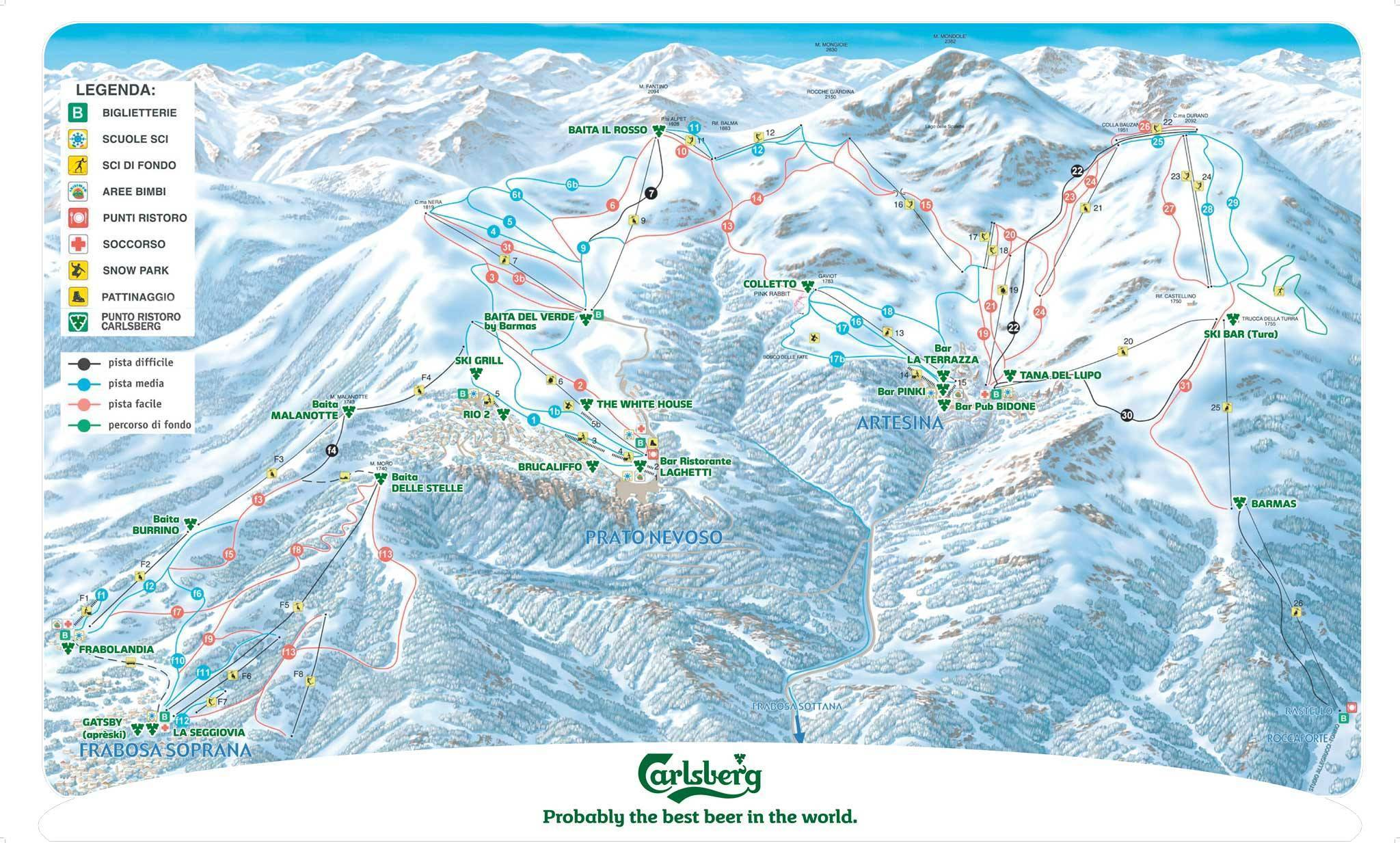 Mondolè Ski – Artesina / Frabosa Soprana / Prato Nevoso