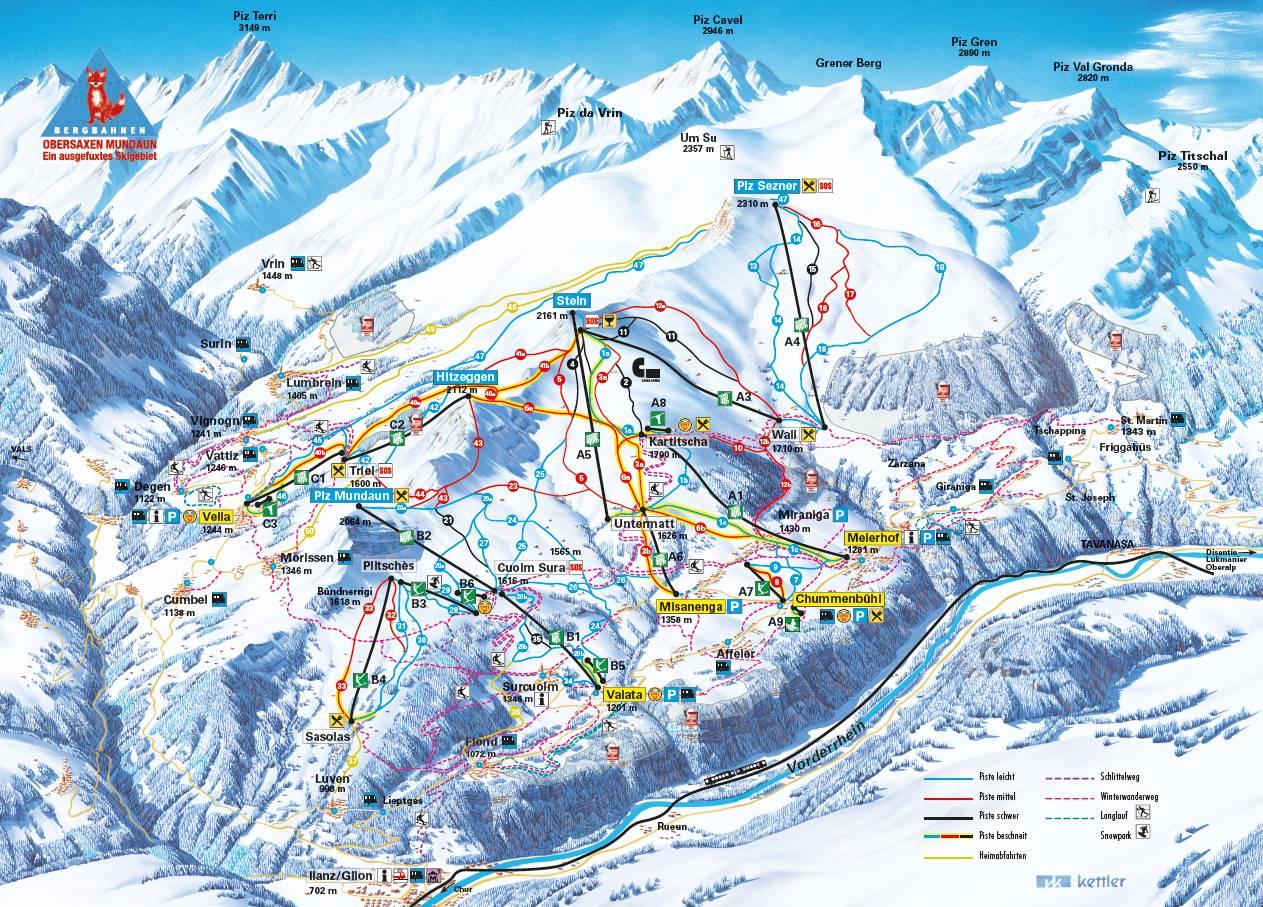Obersaxen / Mundaun / Val Lumnezia